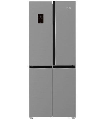 Frigider Side by side Beko GNE480E20ZXP, Clasa A++, Capacitate 450 l, Neofrost Dual Cooling, H 192 cm, Argintiu