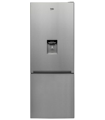 Combina frigorifica Beko RCNE520K20DZX, Clasa A+, Capacitate 450 l, H 192, Iluminare Led, Inox antiamprenta