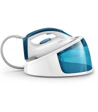 Statie de calcat Philips FastCare GC6709/20, Putere 2400 W, Capacitate 1.3 l, Talpa Ceramica, 110 g/min, Alb/Albastru