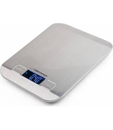 Cantar de bucatarie Esperanza EKS001, Capacitate maxima 5 Kg, Afisaj LCD, Argintiu