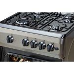 Aragaz LDK 5060 A Shiny Grey RMV, 4 arzatoare, Capac metalic, Aprindere electrica, 50x60 cm, Gri