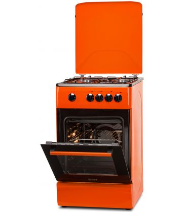 Aragaz LDK 5060 Orange RMV NG, Gaz, 4 Arzatoare, Siguranta, Capac metalic, Portocaliu