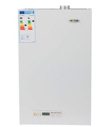 Centrala termica conventionala MOTAN MAX OPTIMUS, Gaz, Tiraj fortat, 31 kW, 2 schimbatoare, Kit evacuare gaze, Alb