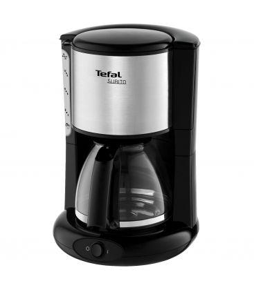 Cafetiera TEFAL Subito 3 CM360812, Putere 1000 W, Capacitate 1.25 l, 15 cesti, Negru