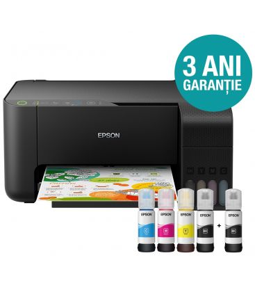 Multifunctional EPSON L3150, Inkjet, CISS, Color, Format A4, Wi-Fi, Negru