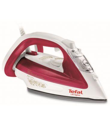 Fier de calcat TEFAL Ultragliss FV4912E0, Putere 2400 W, Capacitate 270 ml, Talpa Durilium, Alb/Rosu