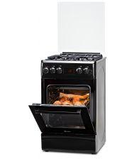 Aragaz LDK 5060 D ECAI BLACK RMV NG, Cuptor electric convectie, Display LCD, Aprindere,  Termostat, Timer, 6 functii, Negru