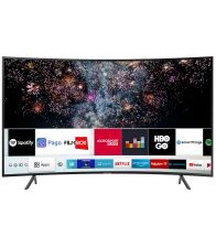 Televizor LED SAMSUNG 49RU7302, Curbat, Smart, 123 cm, Ultra HD 4K, Negru