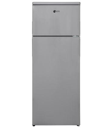 Frigider cu doua usi LDK LF 220 G, Clasa A+, Capacitate 213 l, H 144 cm, Argintiu