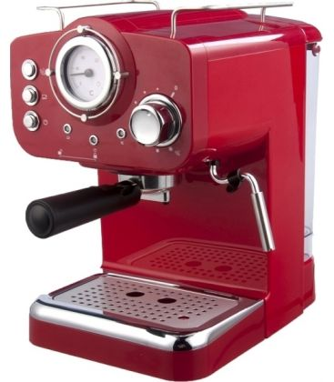 Espressor manual ARIELLI KM-501 R,  Putere 1100 W, Capacitate apa 1.25 l, Presiune 15 bar , Rosu