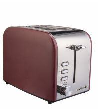 Prajitor de paine ARIELLI AET-1718BS, Putere 800 W, Capacitate 2 felii, 6 grade de rumenire, Rosu