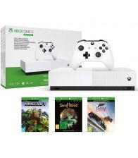 Consola MICROSOFT Xbox One S 1TB All-Digita Edition, Trei jocuri incluse: Minecraft, Sea of Thieves, Forza Horizon 3 (cod)