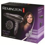 Uscator de par Remington D5220, Putere 2400 W, 2 viteze, Turbo, Difuzor volum, Concentrator, Negru
