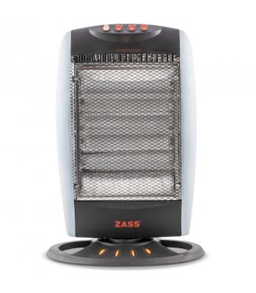 Radiator electric cu halogen ZASS HS 07, Putere 1200 W, 3 trepte de putere, Negru