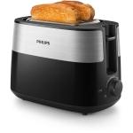 Prajitor de paine PHILIPS HD2515/90, Putere 830 W, 2 fante variabile, Functie dezghetare, 8 setari, Negru