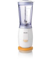 Mini blender Philips HR2860/55, Putere 220 W, Capacitate 0.4 l, 1 viteza, Alb