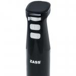Mixer de mana Zass Black Line ZHB 10 BL, Putere 600 W, Turbo, Zdrobire gheata, Negru