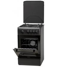 Aragaz LDK 5060 MAT Black RMV NG, 4 arzatoare, Capac metalic, Siguranta, Negru