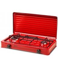 Plita aragaz LDK AMORFO 2 Red, Gaz, 2 arzatoare, Capac metalic, Rosu