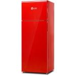 Frigider LDK LF 220 RED, Clasa A+, Capacitate 207 L, H 143,5 cm, 5 ani garantie, Rosu