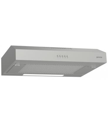 Hota traditionala Gorenje Essential WHU629ES/S, Putere de absortie 200 m³/h, Clasa B, Argintiu