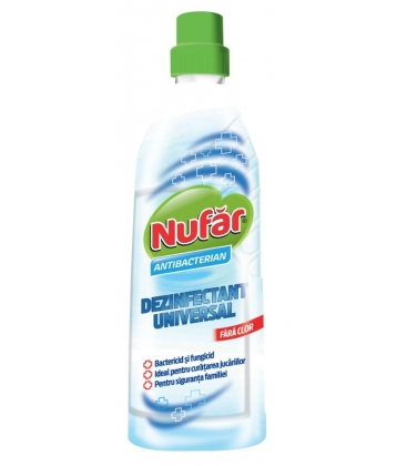 Dezinfectant universal Nufar, Antibacterian, Fara clor, 750 ml