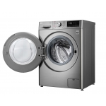 Masina de spalat rufe LG F4WN609S2T, Clasa A+++, Capacitate 9 Kg, AI Direct Drive, Steam, Turbowash, Wifi, Argintiu