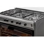 Aragaz LDK 6090 GRAI IX RMV LPG,  5 arzatoare, Aprindere electrica, Grill, Rotisor, 90 cm, Inox