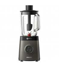 Blender Philips Avance Collection HR3657/90, Putere 1400 W, Capacitate 1.8 l, Tehnologie ProBlent 6 3D,  Negru/Gri