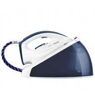 Statie de calcat Philips SpeedCare GC6630/20, Putere 2400 W, 1.2 l, SteamGlide Ceramic, 170 g/min, Alb/Albastru