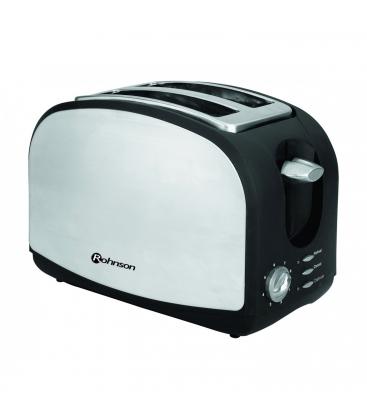 Prajitor de paine Rohnson R207, Putere 900W, Dezghetare, 8 trepte, Inox