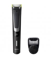 Aparat de barbierit si tuns barba Philips QP6510/60, Umed & Uscat, Pieptene 12 lungimi, Negru/Argintiu + lama suplimentara