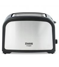 Prajitor de paine Zass ZST 02, Putere 750 W, Capacitate 2 felii, Tavita frimituri, Inox