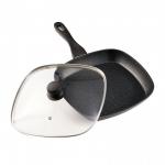 Tigaie Heinner Grill din aluminiu + capac, 28 x 4 cm, Black Sand, Negru