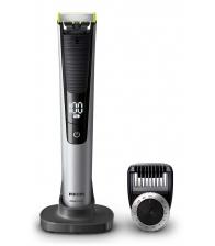 Aparat de barbierit si tuns barba Philips OneBlade Pro QP6520/20, Pieptene cu 14 lungimi, Stand, Husa, Negru