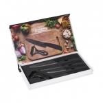 Set cutite de bucatarie Heinner Cook In Style 5 piese, ceramica neagra Marble
