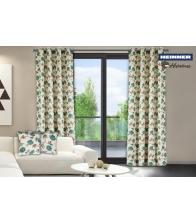 Set 2 draperii Heinner Flori Albastre Bumbac 140 x 270 cm
