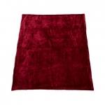 Patura Heinner Fleece Dark Red cu blanita 200 x 220 cm, Poliester