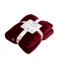 Patura Heinner Fleece cu blanita Dark Red 150 x 200 cm