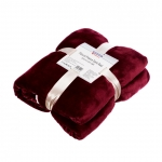 Patura Heinner Fleece cu blanita Dark Red 150 x 200 cm