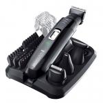 Set de ingrijire Remington Groom Kit PG6130, Pieptene ajustabil 2-20mm, 4 capete, Trimmer nas si urechi, Autonomie 40 min, Negru