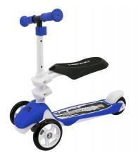Trotineta Head H6 MK 8S,  2 in 1, Roti din plastic cauciucat, Greutate maxima utilizator 20 Kg, Albastru