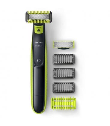 Aparat de barbierit Philips OneBlade Face & Body QP2620/20, Autonomie 45 minute, 1 lama pentru fata, 1 lama pentru corp, Negru