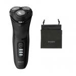 Aparat de ras Philips Shaver S3233/52, Lame PowerCut , Capete 5D pivotante şi flexibile, Umed/Uscat, Negru