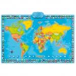 Harta Lumii Interactiva MomKi ZN0001, 90 x 60 cm, 78 de tarii, 192 de state
