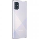 Telefon SAMSUNG A71, Procesor Snapdragon 730, 128 GB Stocare, 6 GB RAM, Silver