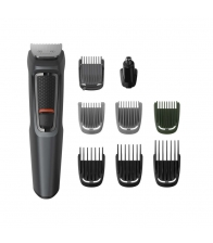 Aparat de tuns Philips Multigroom MG3747/15, Autonomie 70 minute, Trimmer nas si urechi, Negru