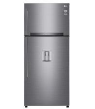 Frigider cu doua usi LG GTF744PZPZD, Clasa A++, Capacitate 509 l, No frost, Door Cooling, Smart Diagnosis, Argintiu