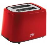 Prajitor de paine Beko TAM4201R, Putere 850 W, Capacitate 2 felii, 7 niveluri de prajire, Rosu