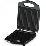 Sandwich maker Rohnson R2108, Putere 1000 W, Capacitate 4 felii, Placi antiaderente tip Grill, Negru/Inox